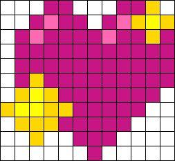 Sparkling Heart Emoji Perler Bead Pattern / Bead Sprite