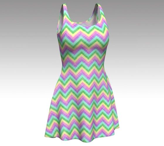Easter Dress, Chevron Dress, Pastel Dress, Pastel Chevron, Flare Dress, Skater Dress, Bodycon Dress, Fitted Dress, Spring Dress, Short Dress by LaineyDesigns on Etsy