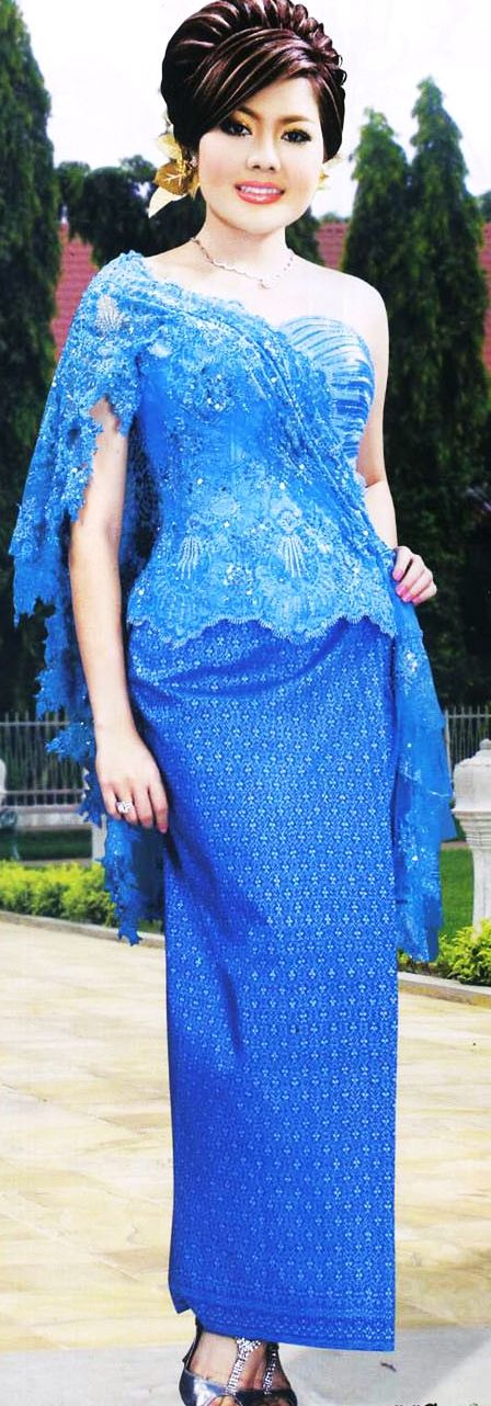 khmer fashion in blue
