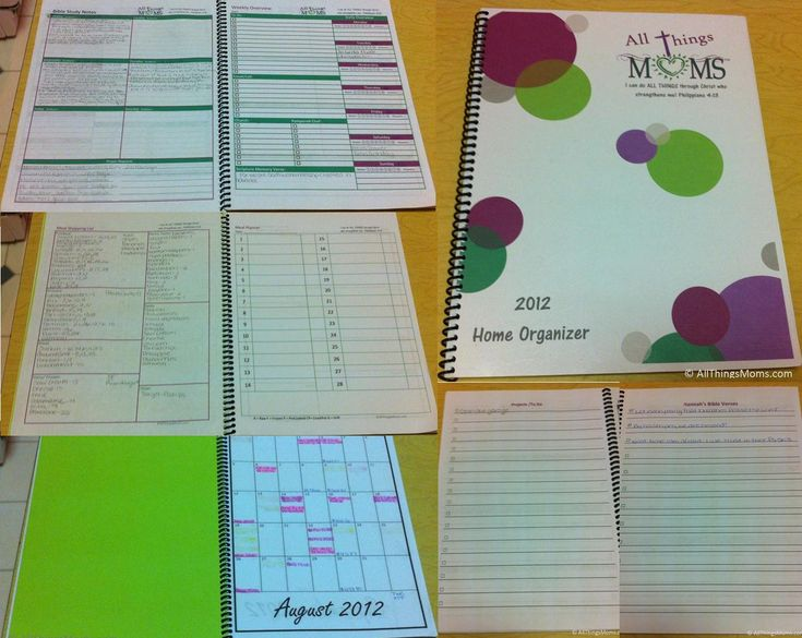 Home Organizer - Free Printable including weekly overview, Bible study notes, bill planners, meal planner, shopping list and more!