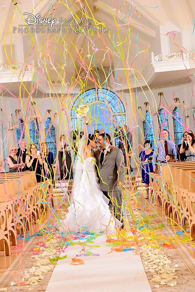 Celebrate Your New Life Together With A Confetti Burst At Disneys Wedding Pavilion