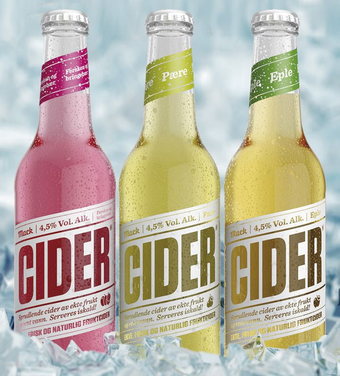 Macks first alcoholic cider product. This product was created for Norway's market.