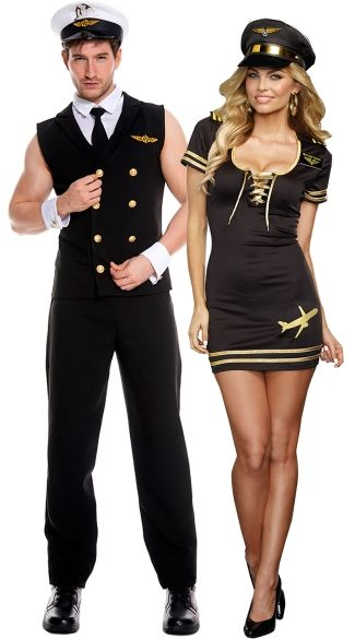 Naughty Mile High Club Couples Costume