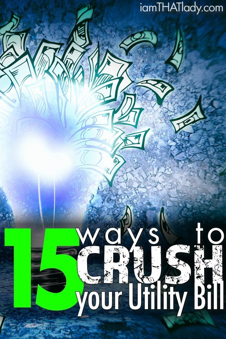 Looking for ways to save on energy? Then you have to check out these 15 ways to CRUSH your utility bill!
