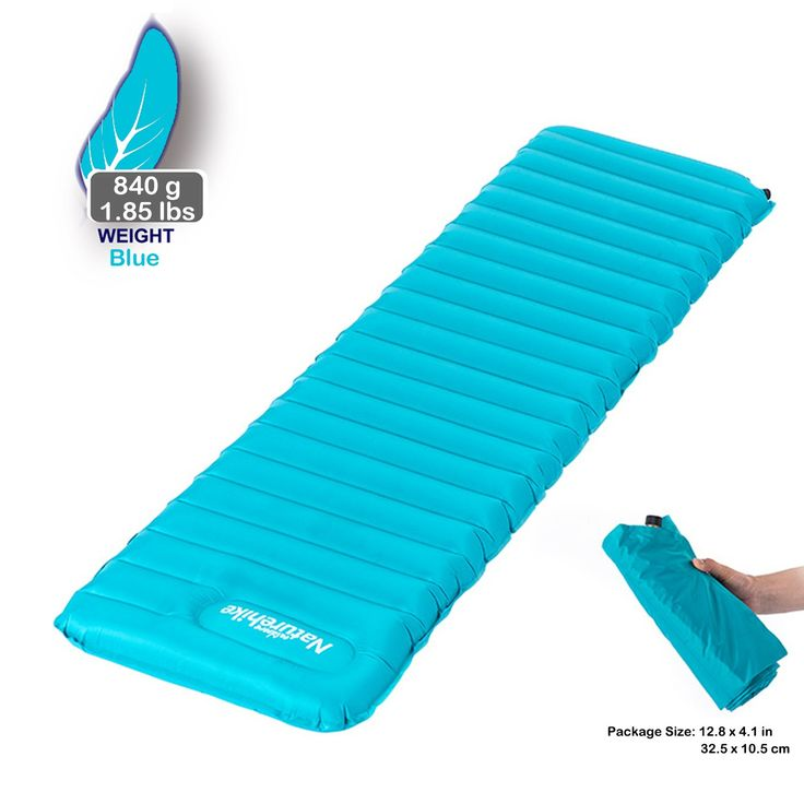 Naturehike Ultralight Outdoor Manual Press TPU Sleeping Inflating Air Pad, Comfortable Mattress PortableSleeping Air Pads, for Camping, Backpacking, Hiking, Tents (Ocean Blue, L). Hight Quality Material - 80% Water-resistant Chinlon + 20%TPU + One-piece Copper Gas Nozzle. Innovative Design - Hands or Feet press for easy inflation and Copper Gas Nozzle for Easier Deflation, Convenient and Easy to Use. Standard Bearing Capacity - 70kg of People Feet up, however, This Tested Sleeping Pad...