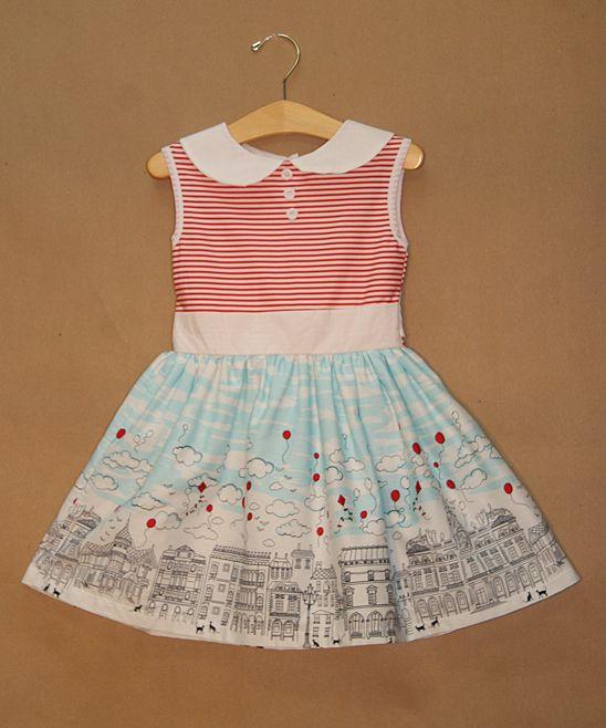 Adorable City Skyline Dress For Toddler & Girls