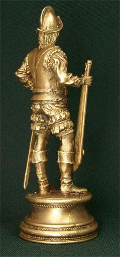 Бронзовая скульптура Конкистадор. Вид сбоку
