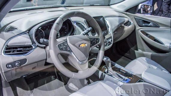 Интерьер седана Chevrolet Malibu 2016 / Шевроле Малибу 2016 – Нью Йорк