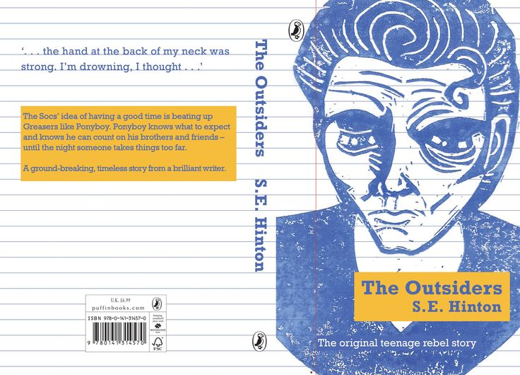 Book Cover Design Competition : The outsiders book cover design for my penguin competition