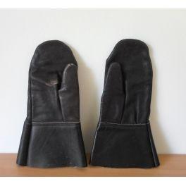 oude leren bromfiets handschoenen