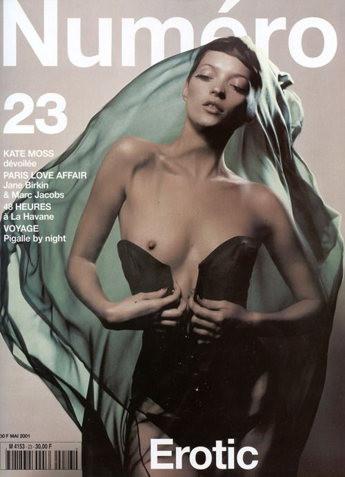 Kate Moss was Numero 23 Covergirl in May 2001