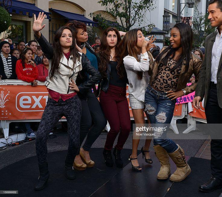 Camila Cabello, Dinah Jane Hansen, Lauren Jauregui, Ally Brooke and Normani Hamilton of Fifth Harmony visit 'Extra' at The Grove on November 26, 2012 in Los Angeles, California.