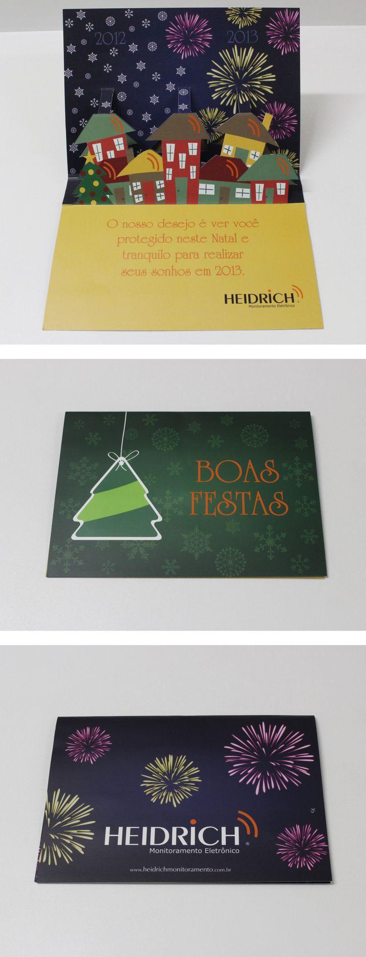 Cartão de boas festas criado pela Agência Conceito para o cliente Heidrich.