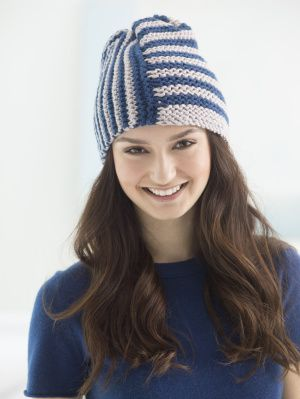 Image of Loom Knit Two Stripe Hat