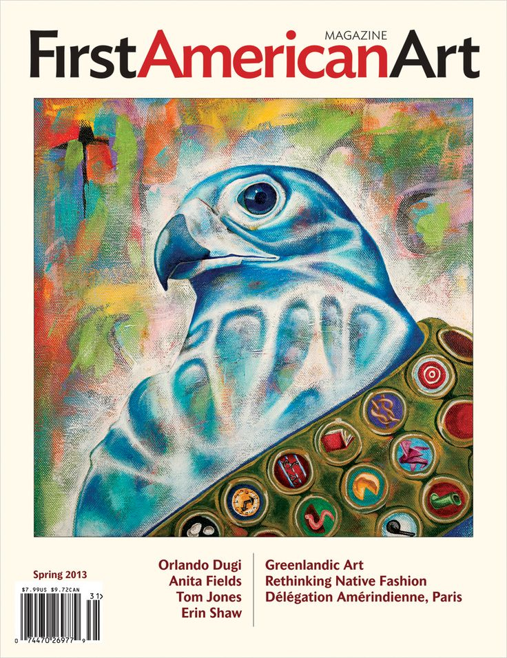 First American Art Magazine Issue No. 0, Spring 2013, cover art by Erin Shaw (Chickasaw-Choctaw)