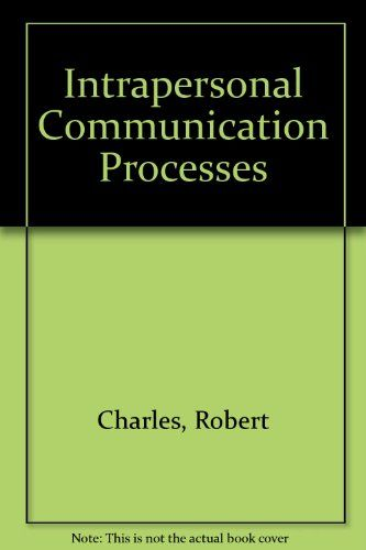 Intrapersonal Communication Processes #book #health http://www.healthbooksshop.com/intrapersonal-communication-processes-2/ paperback