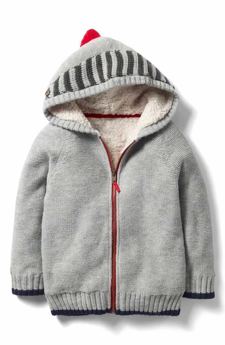 Main Image - Mini Boden Shaggy Fleece Lined Hoodie (Toddler Boys, Little Boys & Big Boys)