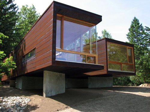 The Koby Cottage was designed by the Brooklyn-based Garrison Architects