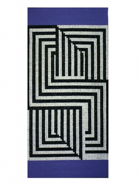 Jason Collingwood weave - Shaft switched rug! Like an optical illusion...