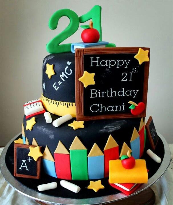 Cake Design School : 154 best images about Teacher Cakes on Pinterest ...
