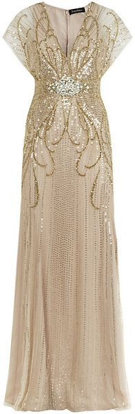 Jennypackham ball gowns | Jenny Packham Beaded Gown - Lyst