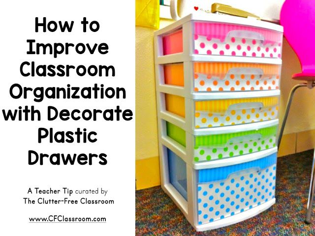 Classroom Improvement Ideas ~ Ideas about decorate plastic drawers on pinterest
