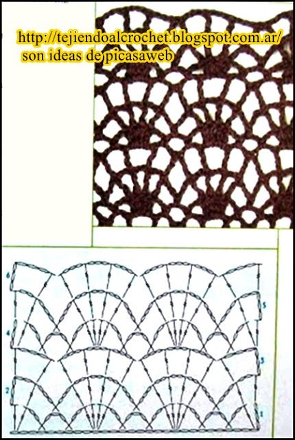 PATRONES=GANCHILLO = CROCHET = GRAFICOS =TRICOT = DOS AGUJAS: POINTS WITH crocheting …