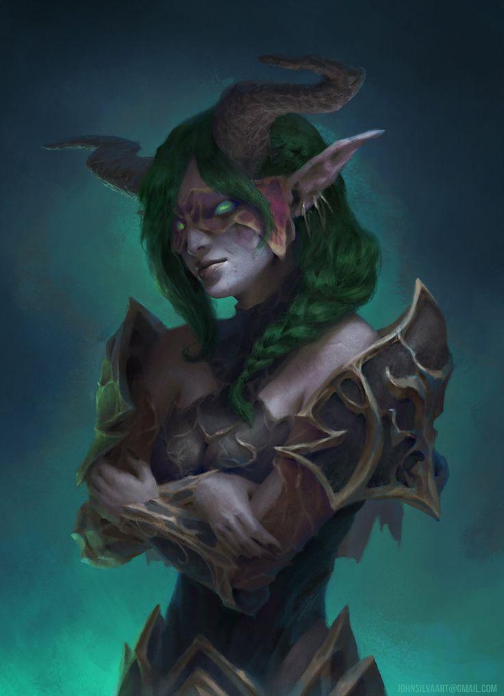 Demon Hunter Girl Fanart, John Silva on ArtStation at https://www.artstation.com/artwork/GvGyV