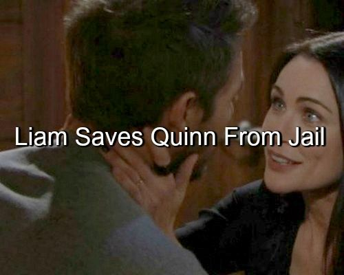 """""""The Bold and The Beautiful"""" (B&B) spoilers reveal that Quinn Fuller (Rena Sofer) may avoid facing any legal consequences for her kidnapping of Liam Spencer..."""