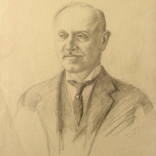 Hermann Struck - Portrait, Pencil on Paper, N.Y, 1913. : Lot 40