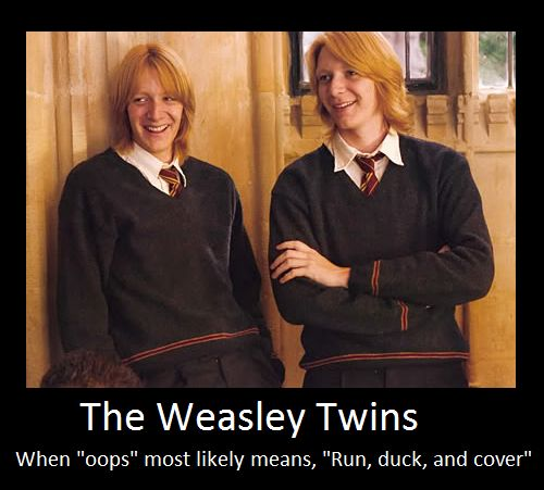 Image result for weasley twins memes