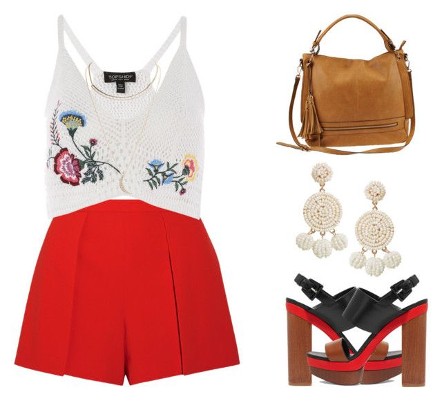 Red mist by melanie-pacheco on Polyvore featuring moda, Topshop, Wet Seal, Alice + Olivia, Michael Kors, Urban Expressions, Humble Chic, red, tropical and boho