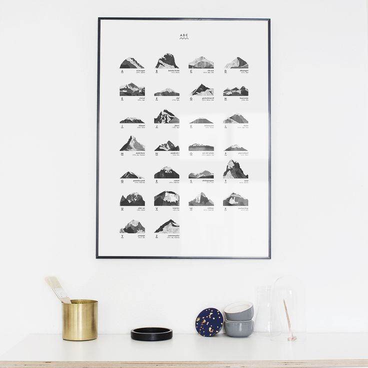 A new print available: Mountain ABC from coco lapine