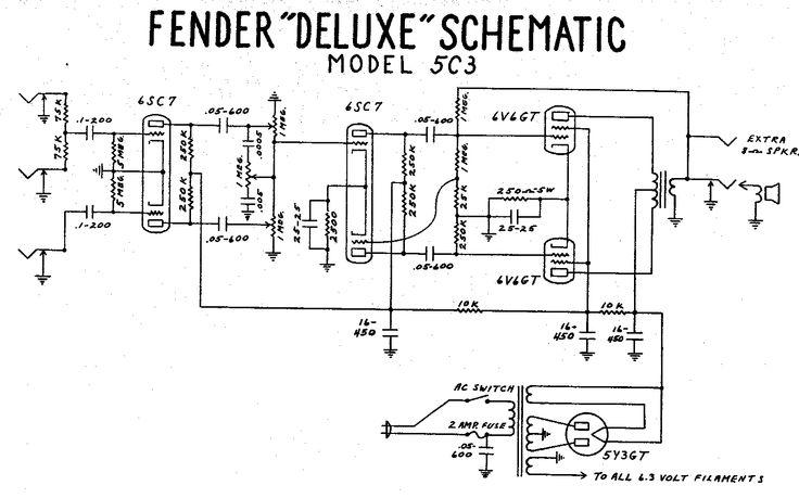 Fender Deluxe Tube Amp Schematic