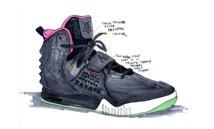 La basket Air Yeezy de Nike x Kanye West