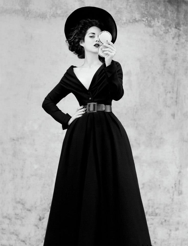 Abandon dress in black wool HC FW 1948-1949 ligne Allée jean-Baptiste mondino