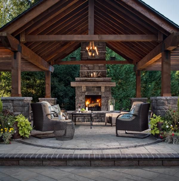 Best 25+ Covered patio design ideas on Pinterest | Fire pit under ...