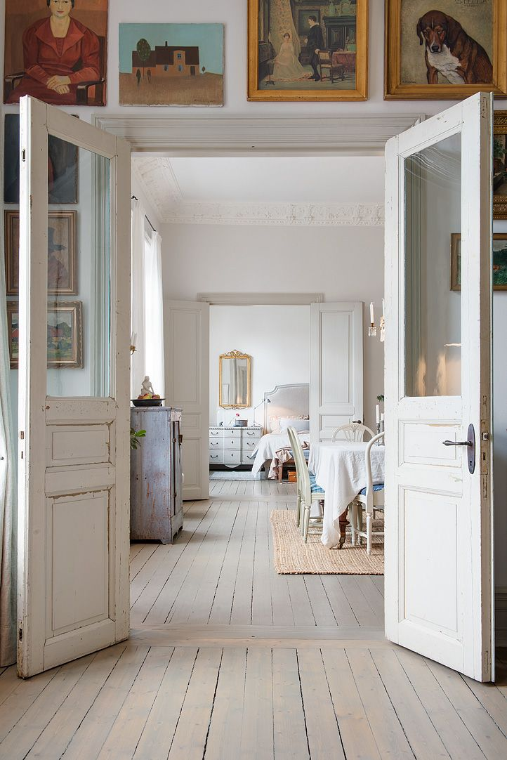 love the two exterior doors instead of the usual French doors