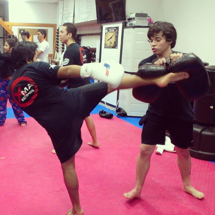 Muay Thai training at Extreme Martial Arts.