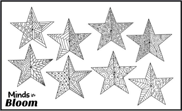 Got Kids Who Love To Color Make This 3d Star Ornament