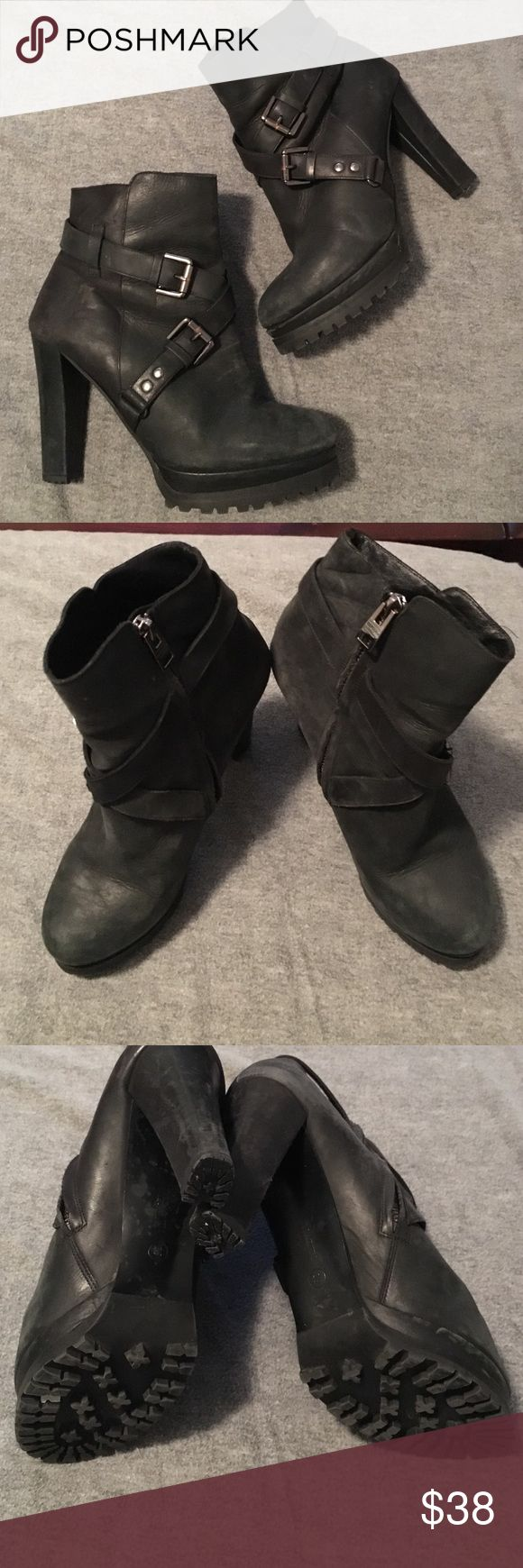 Allsaints boots Super comfy boots. They are quite worn, they were my favorites for a while but that means they're perfectly broken in! All Saints Shoes Ankle Boots & Booties