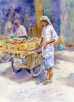 Fruitseller Jeddah by Dorothy Boyer