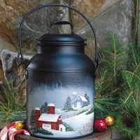 winter barn milk can this peaceful winter scene offers quiet ...