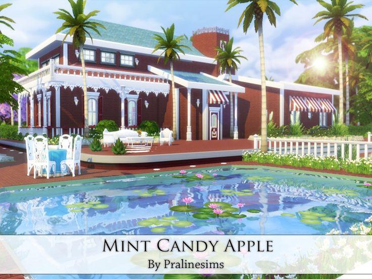 Pralinesims' Mint Candy Apple