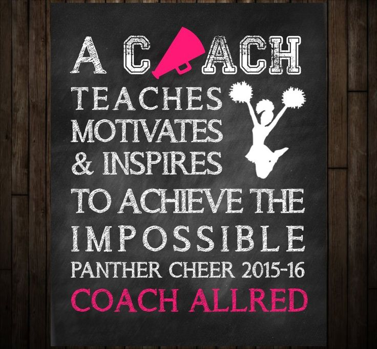 Cheer Coach Thank You Gift and Coach Keepsake, Chalkboard Art Print #Unbranded