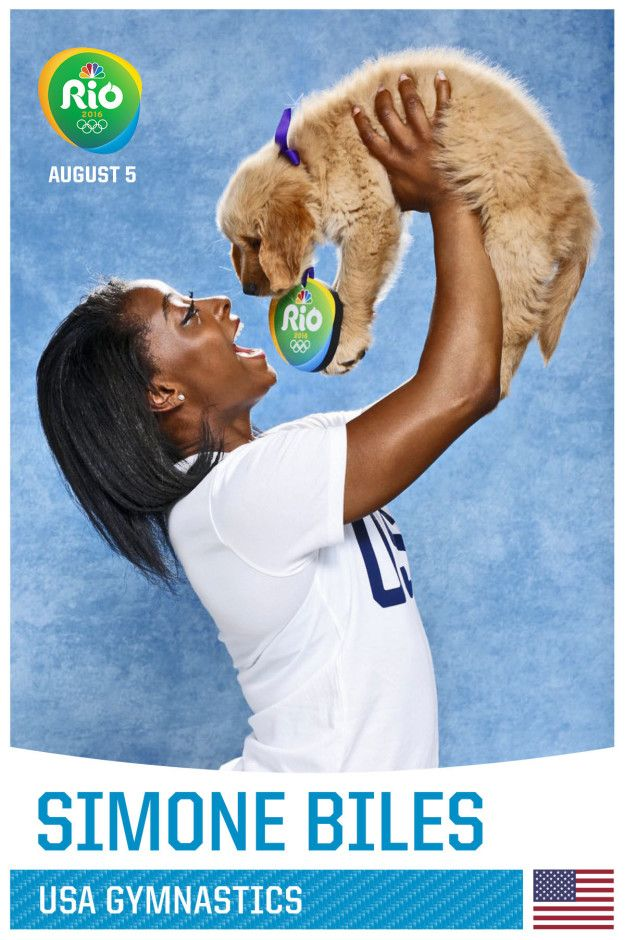 Literally Just US Olympians With Puppies Because Olympians And Puppies