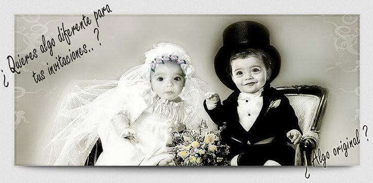 Diseños para ilustrar invitaciones de boda originales. Personalizados con las fotografias de los novios. Un producto creativo, diferente y divertido. Una forma de invitar a tus invitados de una manera personalizada.