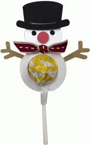 Silhouette Design Store - View Design #96676: snowman lollipop
