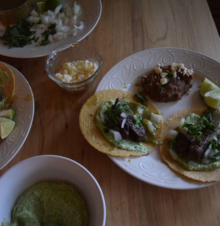 Tacos de Carne Asada + Garlic Avocado Crema - ZOE LAURYN