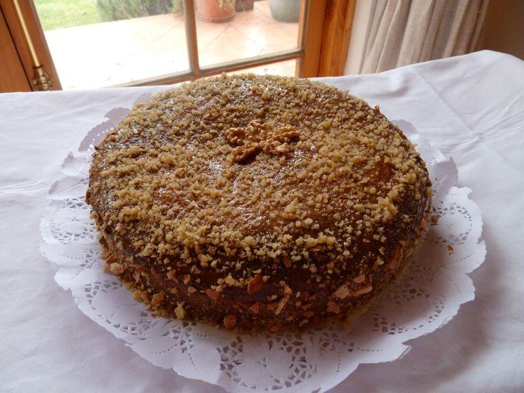 Torta de Manjar nueces !